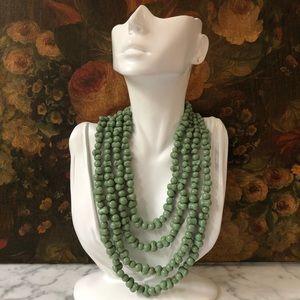 🔥 Vintage Sage Multi Strand Necklace